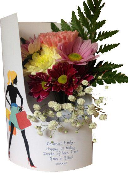 23 Best Birthday Flower Cards Images On Pinterest Flower Cards