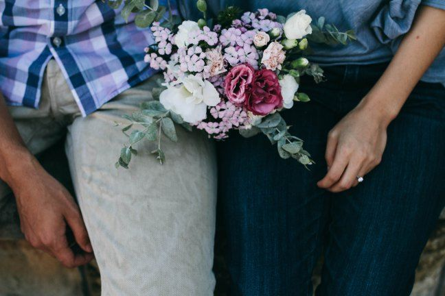 Bouquet and Engagement Ring Photo - Sydney