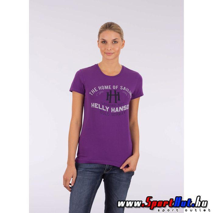 Helly Hansen női póló - W Graphic SS TEE - lila színben