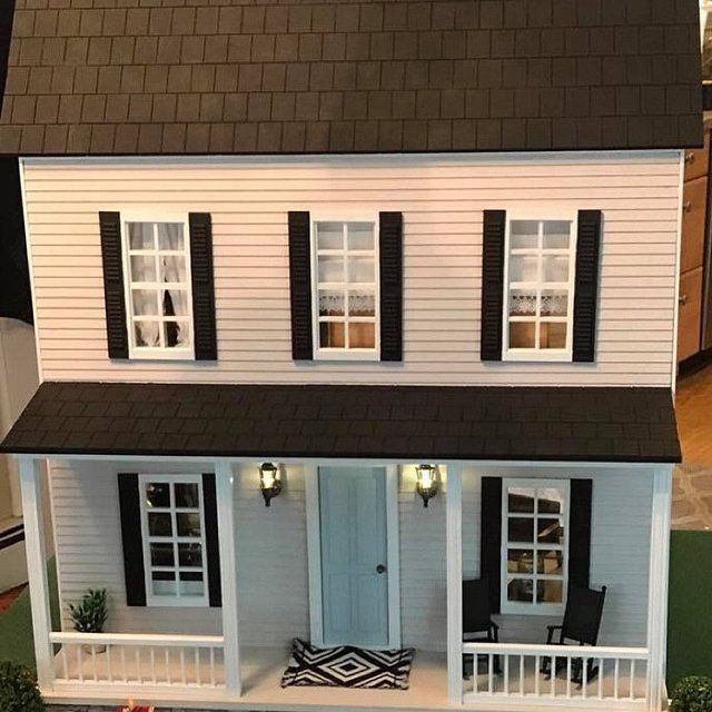 3 Designs Doll House Miniatures 1 12 Scale Cream And Black Etsy Dom