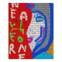 Never Alone Love Evolve Graffiti Poster