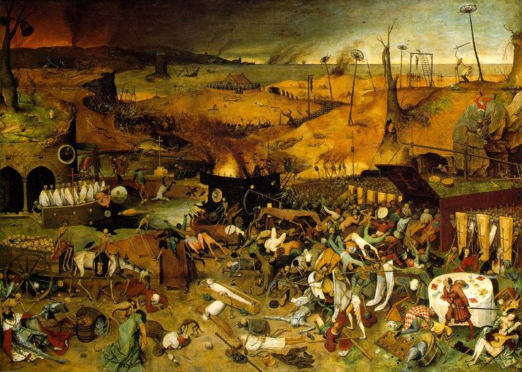 Pieter Bruegel -The Triumph of Death Pieter Bruegel's The Triumph of Death was painted in 1652 and currently resides in the Museo del Prado in Madrid, Spain. It is unknown as to where this pi…