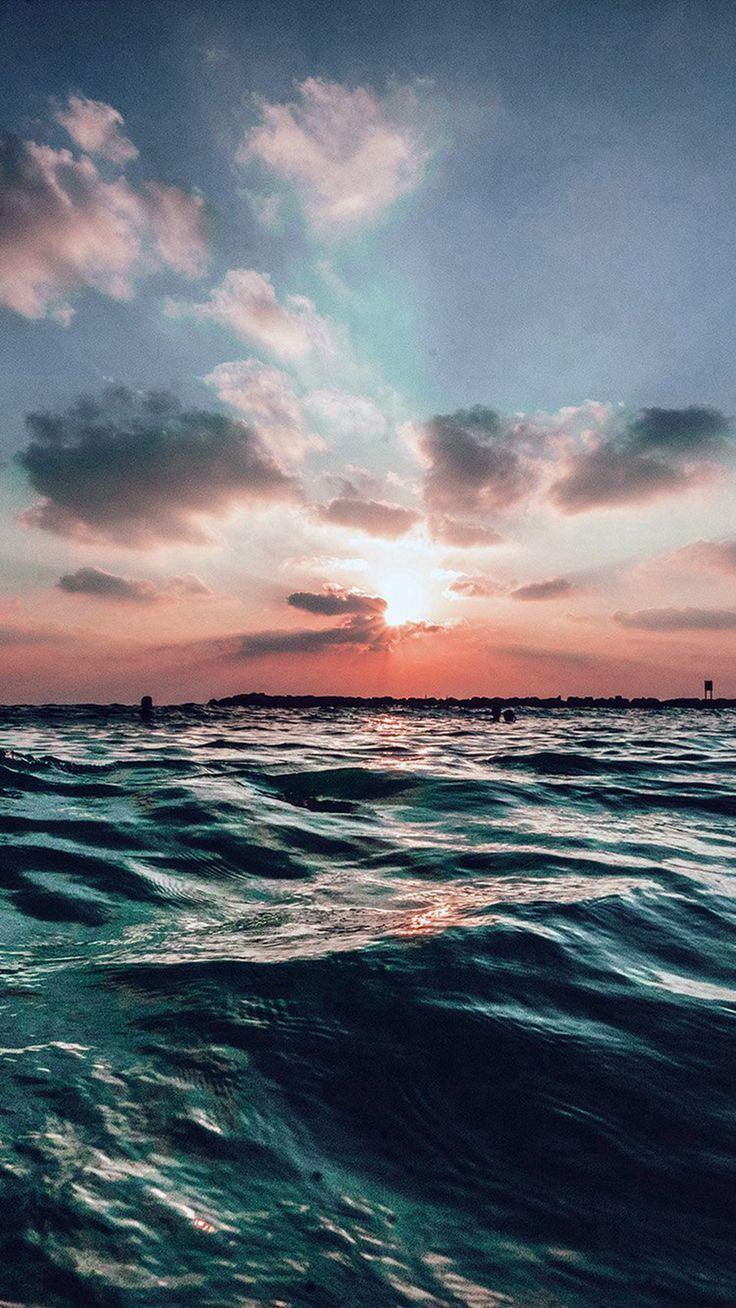 Sunset Sea Sky Ocean Summer Blue Water Nature #iPhone #6 #wallpaper – AalizArt96