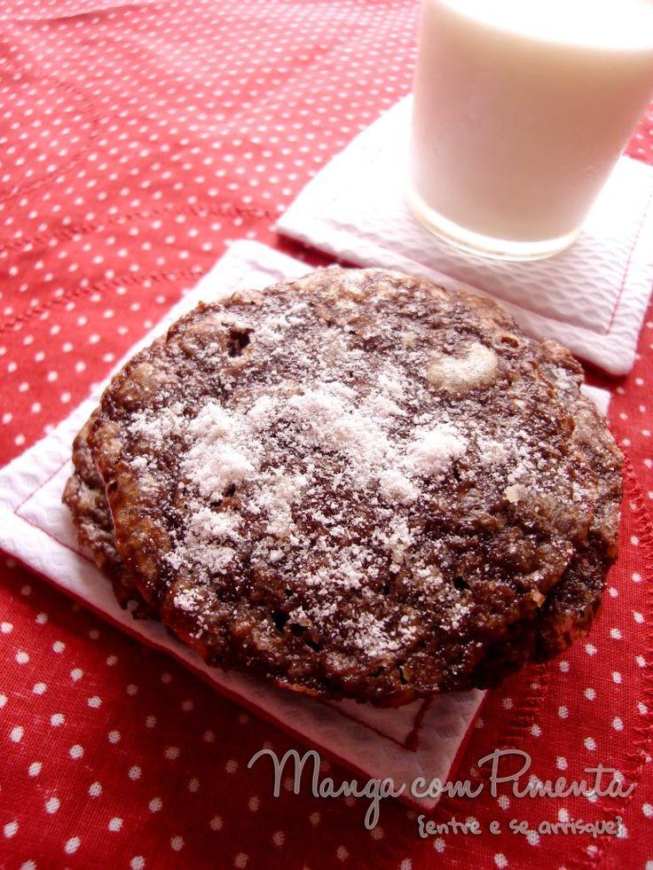 Chocolate Crinkle Cookies, clique na imagem para ver a receita de biscoito de chocolate no Manga com Pimenta.
