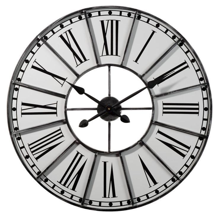 Horloge cambronne maison du monde wishlist pinterest d - Horloge murale maison du monde ...