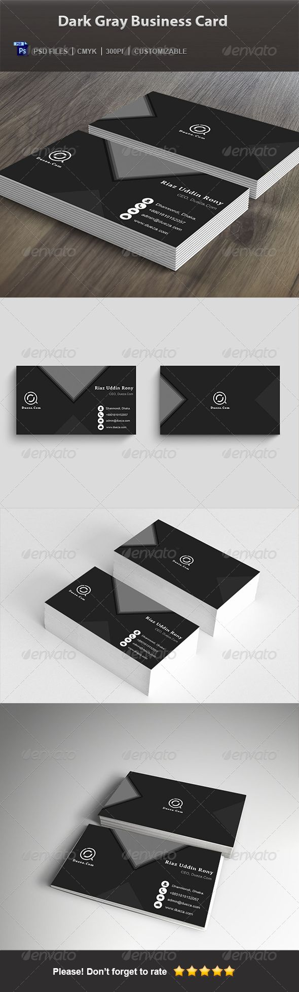 51 best blog for modern creative business card design images on creative business cards dark gray business card magicingreecefo Choice Image