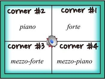 MUSICAL FOUR CORNERS, DYNAMICS GAME #musiced