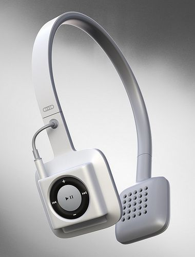 The ODDIO1 is a cord-free headphone set that ONLY works with the iPod Shuffle. It's meant to be the coolest, simplest, cord-free workout experience. I really want to see one for the touchscreen iPod Nano, with buttons on the headset. $35 gets you a pair on Kickstarter.