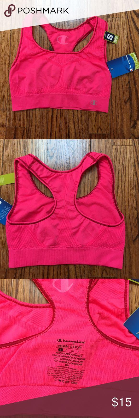 Brand new Champion sports bra Hot pink medium support sports bra. Size small brand new Intimates & Sleepwear Bras