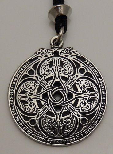 Anglo-Saxon DRAGON Shield WARRIOR Pendant Necklace PROTECTION magick Pepi & Co
