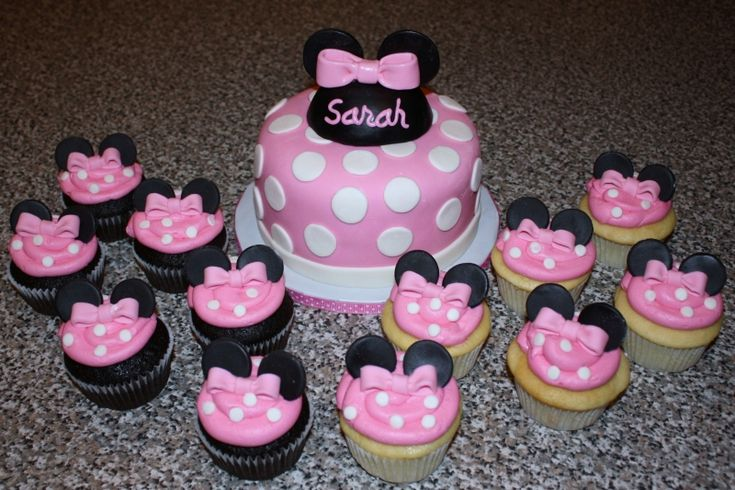 Use mini oreos for the ears, and upside down white chocolate chips for the polka dots...maybe use pink laffy taffy for the bows