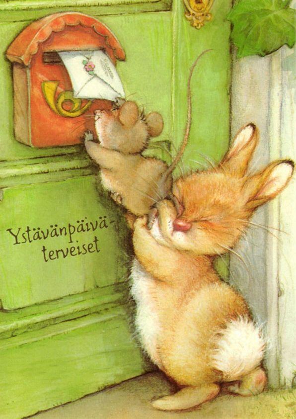 Семи, детская открытка для друга рисунок