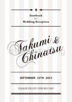派手な会場の装花に合いそうな淡色ストライプ柄♡ モダンなグレーの席次表一覧。結婚式の席次表まとめ。