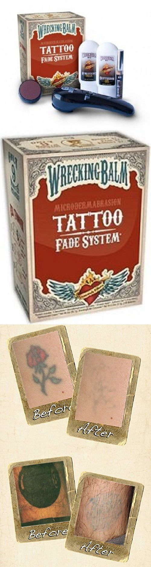 Tattoo Removal - Tattoo Removal Machines: Remove Tattoos Cream Wrecking Balm Microdermabrasion Help Tattoo No Sales Tax ! -> BUY IT NOW ONLY: $36.55 on eBay! - Quick and Easy Natural Methods & Secrets to Eliminating the Unwanted Tattoo That You've Been Regretting for a Long Time #TattooRemoval