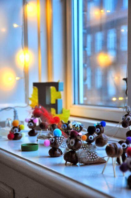 brown chestnut figures ✭ DIY kids