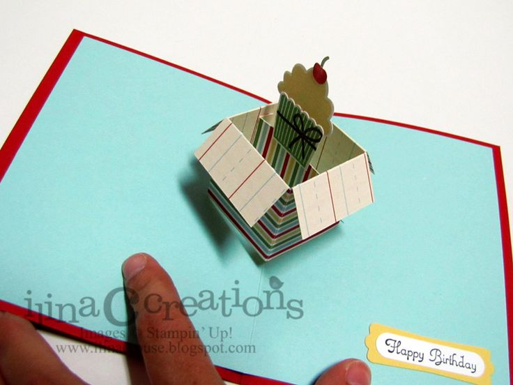 Create a Cupcake Pop Up Card - inside by ilinacrouse - Cards and Paper Crafts at Splitcoaststampers