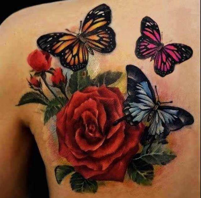 Clitoris butterfly tattoo deep