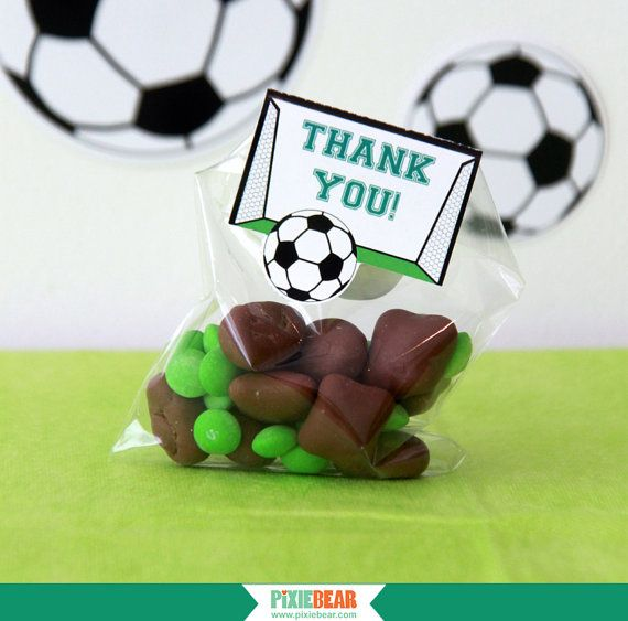 Soccer Favor Tags for a Soccer Party by PixieBearParty on Etsy #Soccer #BirthdayParty