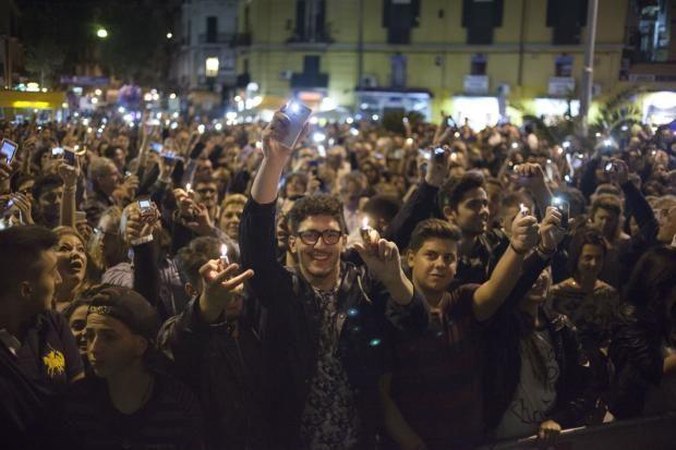 Vomero Notte: flash mob per la Terra dei Fuochi