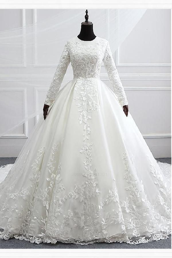 Wedding Dresses With Appliques. Ball Gown Wedding Dresses