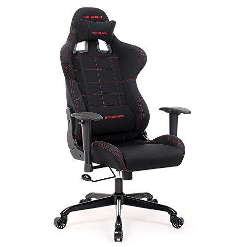 bon plan vpm songmics chaise gamer fauteuil de bureau racing sport avec support lombaire