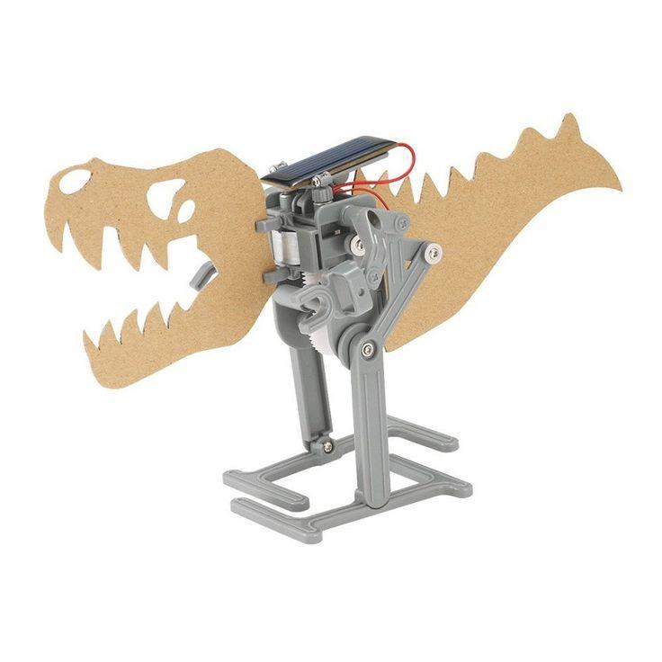 ¿Quieres tener un dinosaurio en movimiento? ¡Aprende cómo hacer un 16,56 € Dideco robot que se mueve con energía solar utilizando paneles solares y un motor!