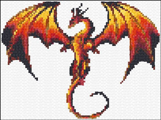 "Our maybe this one. ""You can't be a dragon slayer without dragons""  Free Dragon Cross Stitch Pattern"
