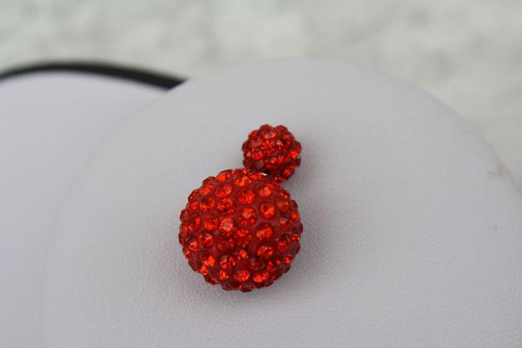 Ohrringe - Ohrringe Doppel-Ohrstecker rot  Strass - ein Designerstück von trixies-zauberhafte-Welten bei DaWanda
