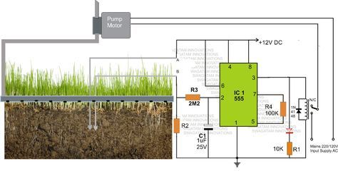 Simple Automatic Plant Watering Circuit | Homemade Circuit Projects