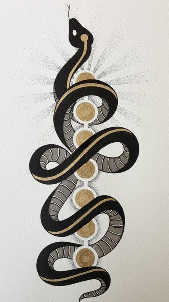 Serpent of kundalini The chakras in color snake as well?