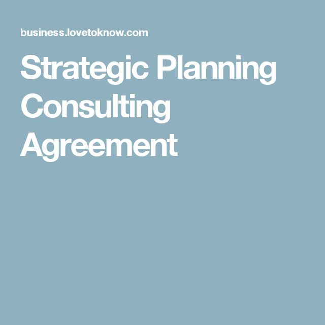 Strategic Planning Consulting Agreement Next Pinterest - independent consulting agreement