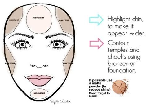 Makeup for heart shaped face More