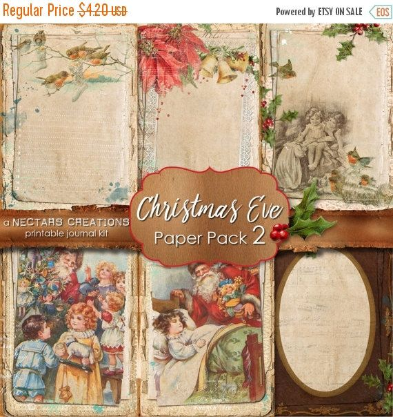 ON SALE CHRISTMAS Eve_Pp2 Printable Junk by NectarsCreations
