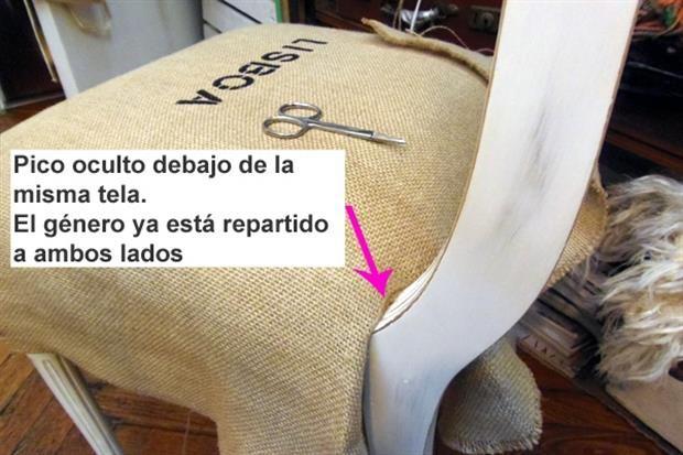 M s de 1000 ideas sobre sillas tapizadas en pinterest - Como tapizar una silla paso a paso ...