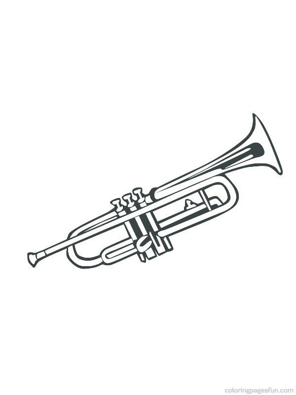 Musical Instruments Coloring Pages 5 | JAzz | Pinterest