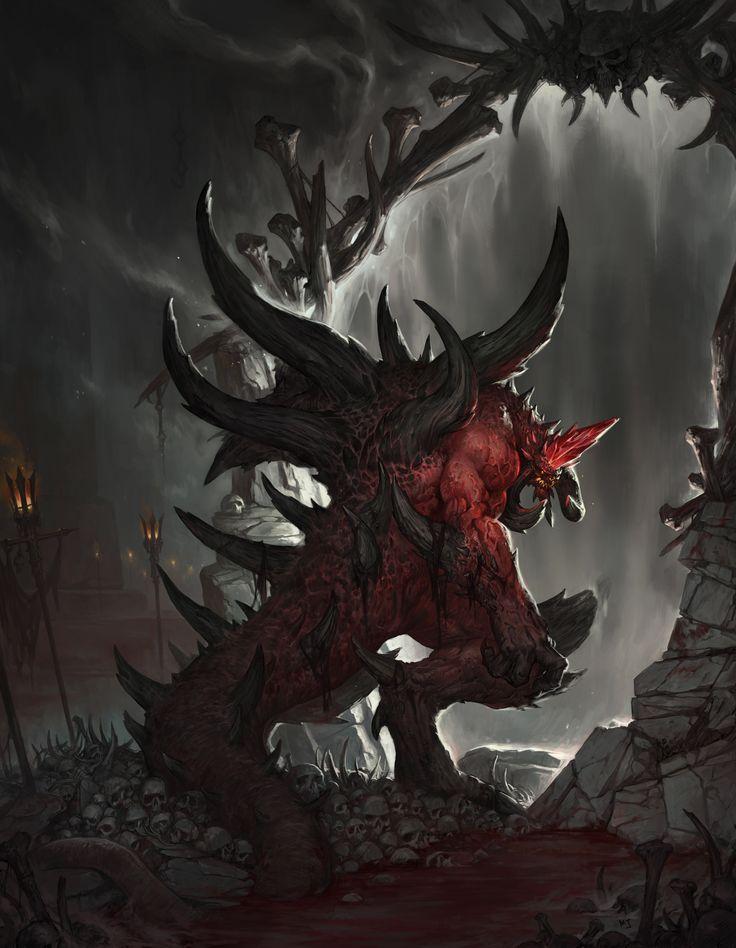 ArtStation - 1601_Diablo2 fanart_Enter Hell, Minjun Kim
