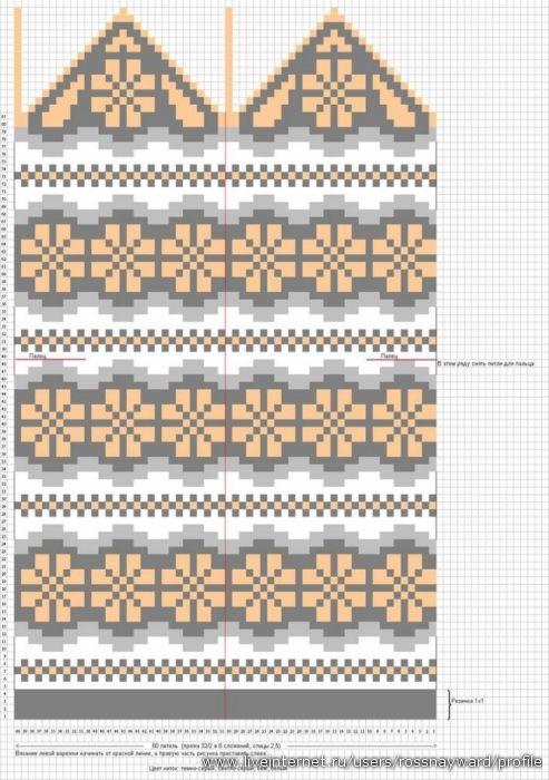 Жаккардовые узоры для рукавиц. Обсуждение на LiveInternet - Российский Сервис Онлайн-Дневников
