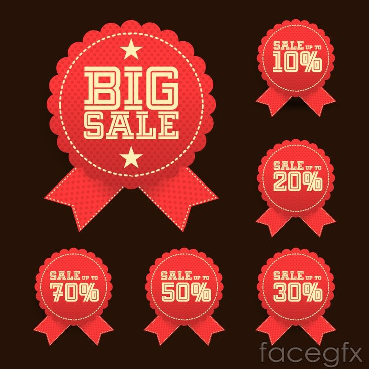 The Red Medallion sale tag vector