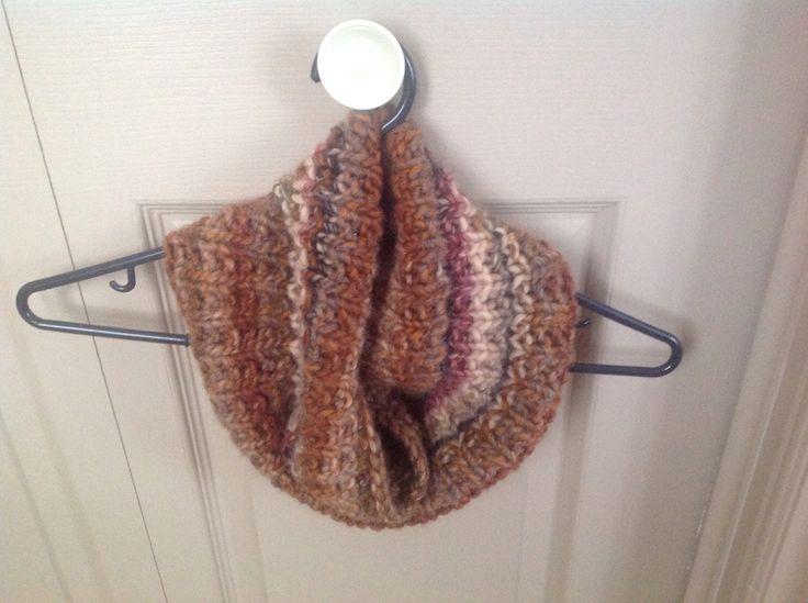 Cowl done in Katia Inca yarn ..size 8 circs.