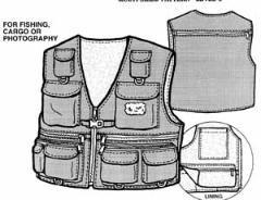 fishing vest pattern