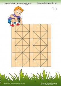 Deel 2: 15 voorbeeldkaarten om een terras te leggen in de bouwhoek, kleuteridee, thema tuincentrum, make a terrace in the block area 15.