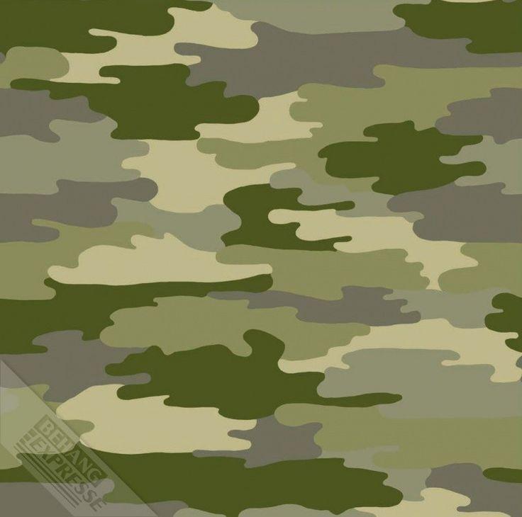 Ons Zelf Stoer camouflage behang