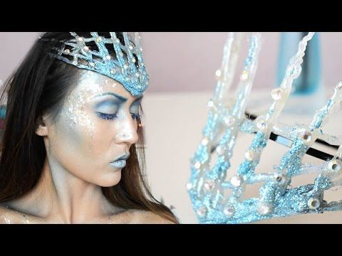 Ice Queen Crown Tutorial- In this DIY I will show you how you can make your own ice crown with a hot glue gun.