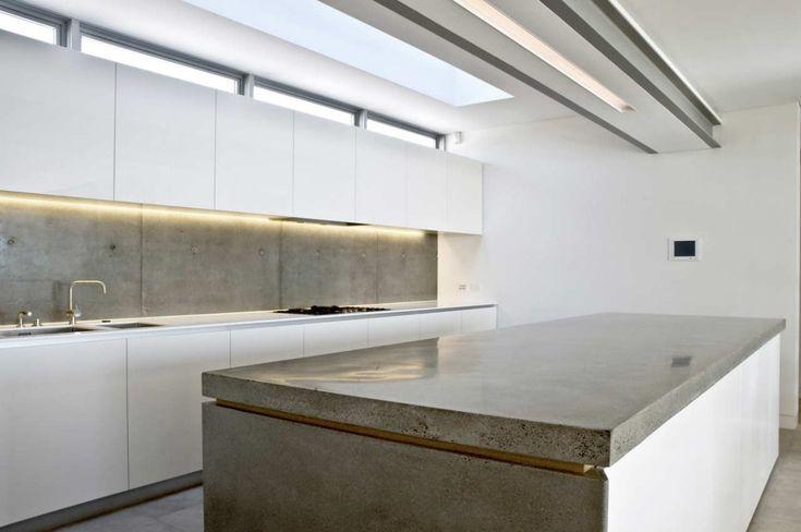 Mosman House by Popov Bass Architects - concrete benchtop