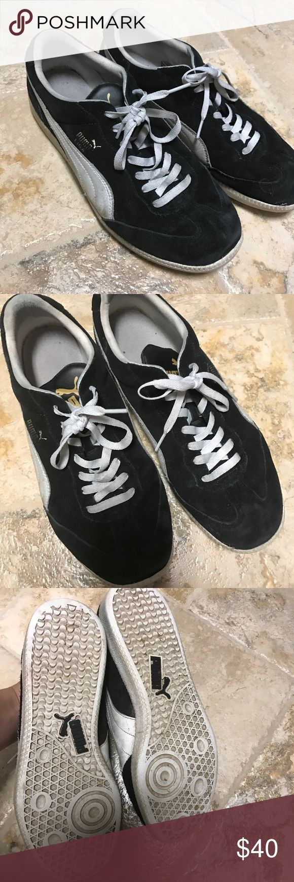 Details about puma womens suede classic rg black running shoes - Puma Athlete Sneakers Size 12