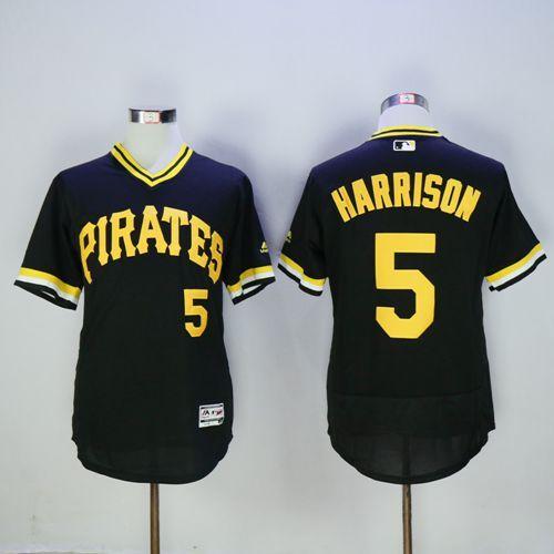 Men's Pittsburgh Pirates #29 Francisco Cervelli Black 2016 Flexbase Majestic Baseball Jersey