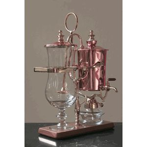 Royal Coffee Maker Modern Copper Vacuum Coffee Brewer - product review at Cheftalk.com