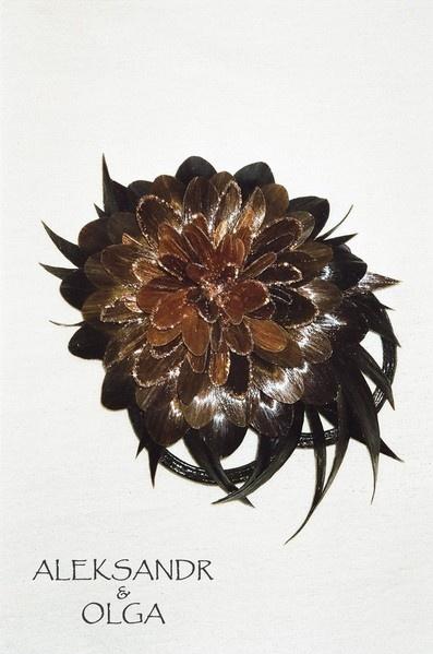 Украшение - ЗАКОЛКА - постиж, коричневый цветок (ИЗ натуральных ВОЛОС) http://www.livemaster.ru/hair-jewellery http://www.aleksandr-and-olga.ru/