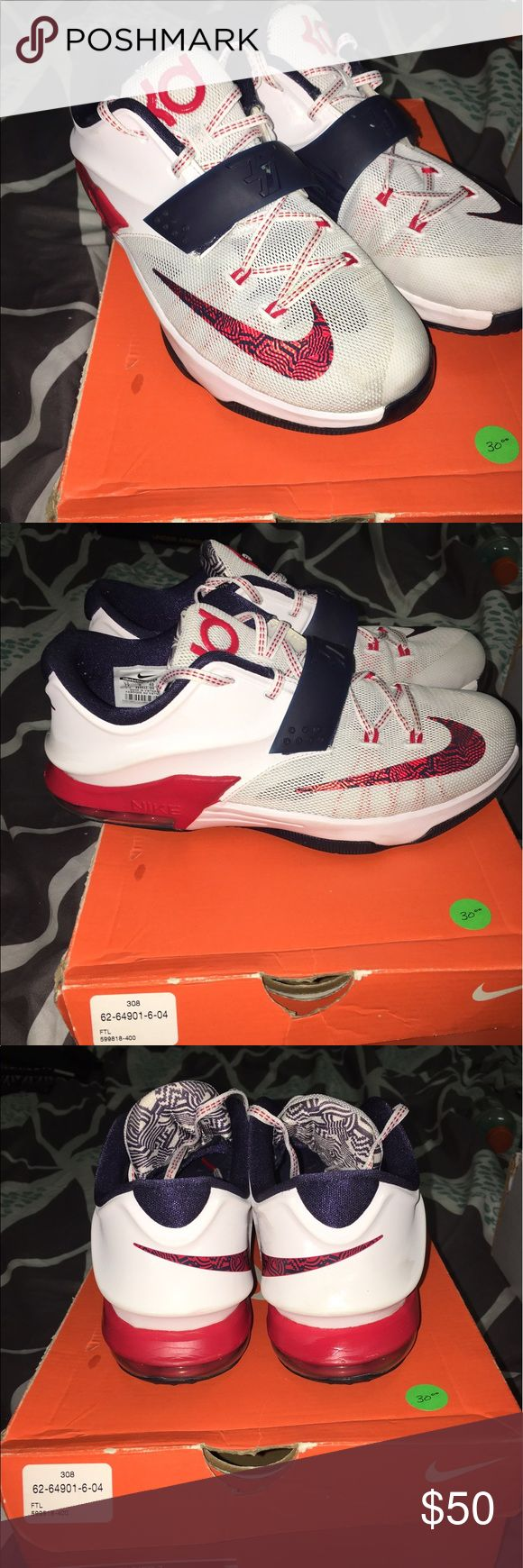 Nike KD 7.5 Red White Blue edition Nike KD 7.5 Nike Shoes Sneakers