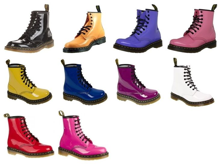 Dr. Martens Womens 1460 Classic Shiny Patent Leather Ankle Boots All Colours #DrMartens #AnkleBoots
